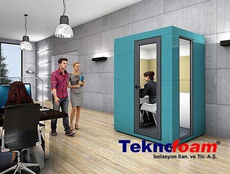 Akustik Ofis Telefon Görüşme Kabini